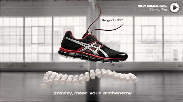 Floating Footwear Ads