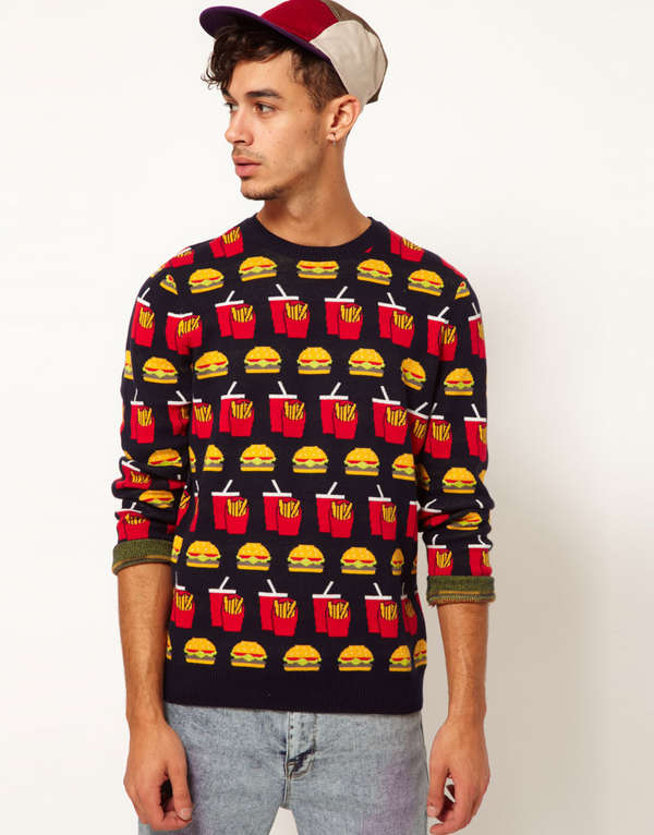 Funky Fast Food Sweaters