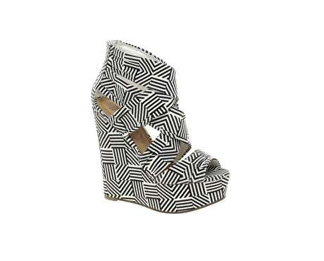 Towering Maze-Patterned Pumps