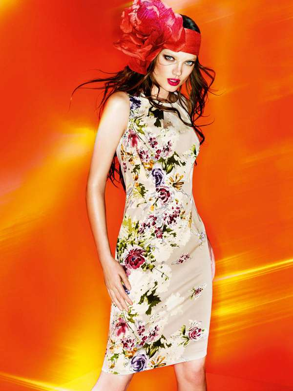 Fiery Floral Ads