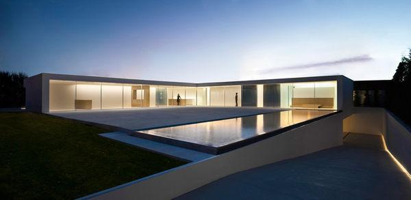 L-Shaped European Residences
