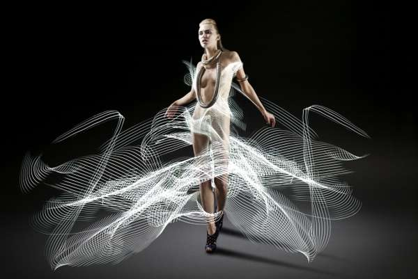 Fashionable Light Trail Photography