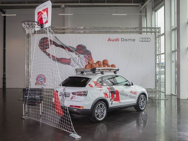 Audi mobile basketball hoop