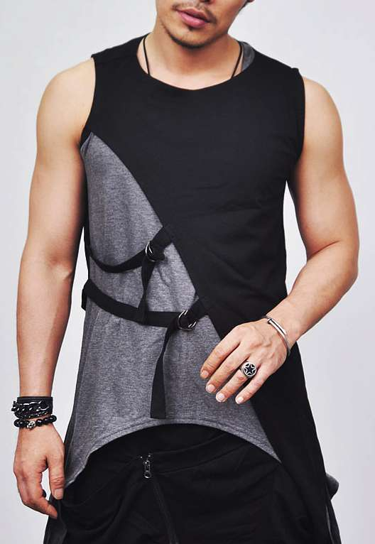 Avant-garde Edge Gladiator Strap Vest
