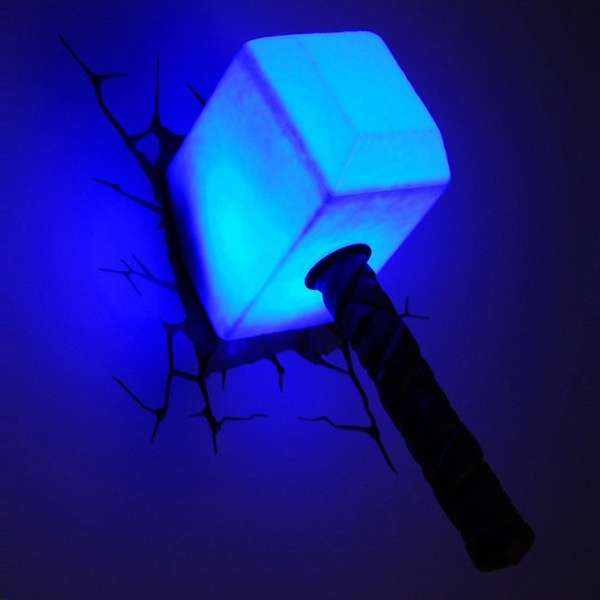 Superhero-Inspired Night Lights : avengers night light