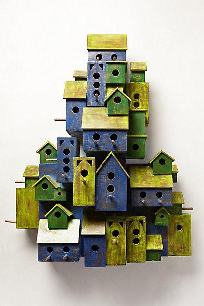 Artful Birdhouse Decor