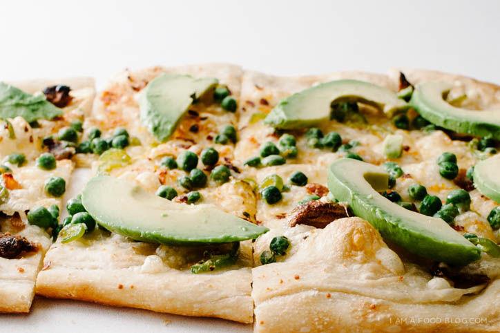 Avocado-Garnished Pizzas