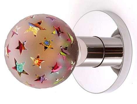 Designer door openers out of the blue glass door knobs range from