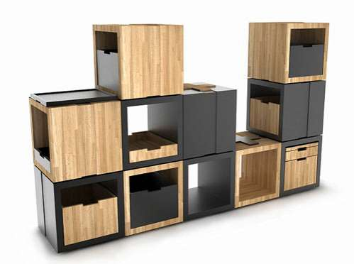 Stackable Square Shelving