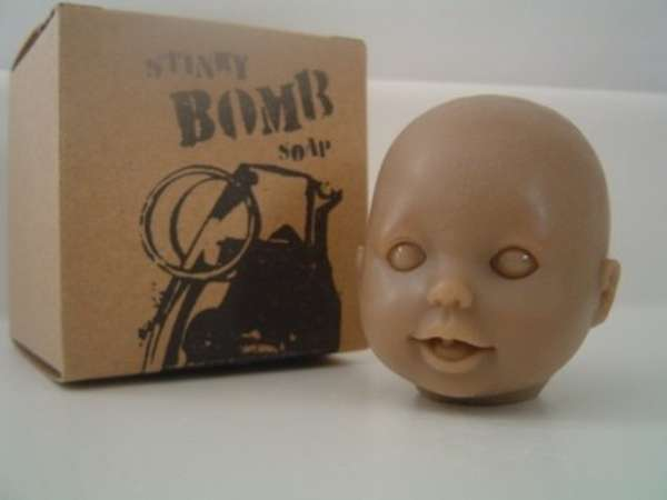 baby doll head soap