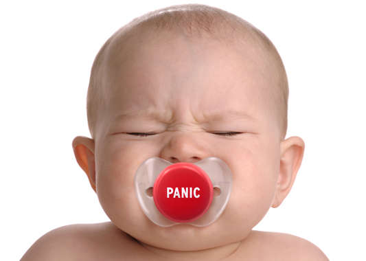 Humorous Stress Button Pacifiers