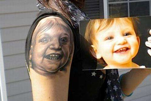 baby portrait tattoos