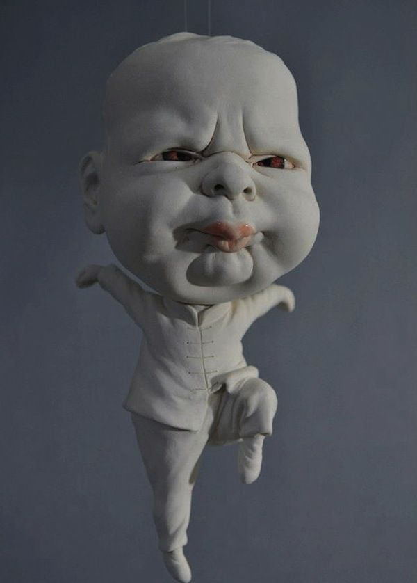 Bizarre Baby Artwork : baby sculpture
