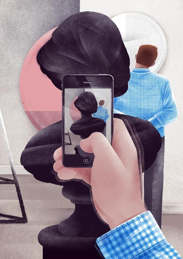 Rear-Facing Portrait Illustrations