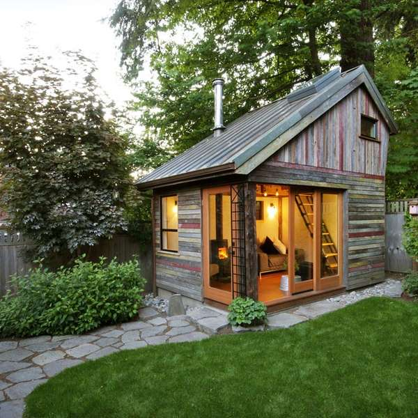 Recycled Yard Structures : Backyard House