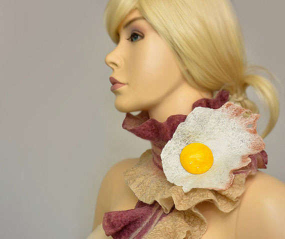 Breakfast-Inspired Scarves