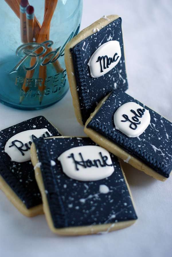 Notebook-Inspired Biscuits