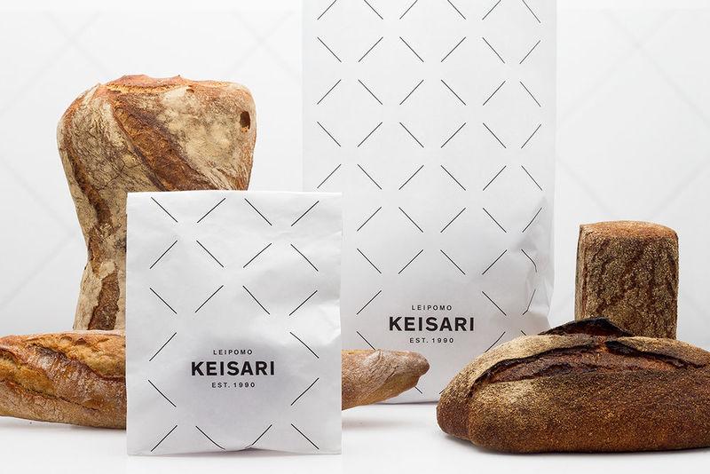 Monochromatic Baked Goods Branding