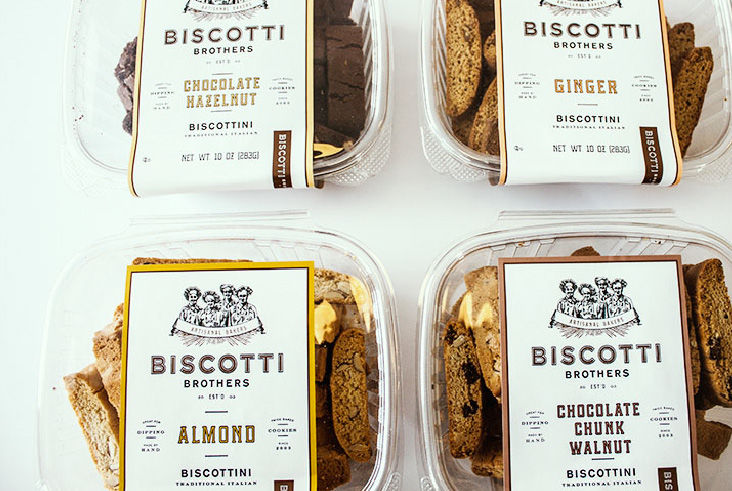 Vintage Biscotti Packaging Bakery Branding