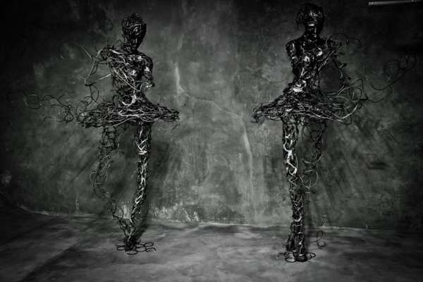 Deconstructed Dancer Sculptures
