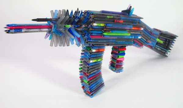 Stylus Rifle Sculptures