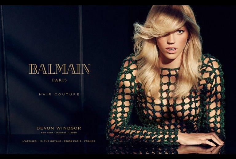 Fashionable Hair Care Campaigns Balmain Hair Couture