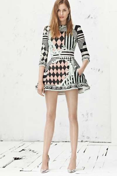 Clashing Checkered Couture