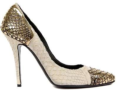 Edgy Snakeskin Pumps