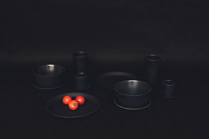 Blackened Bamboo Tableware