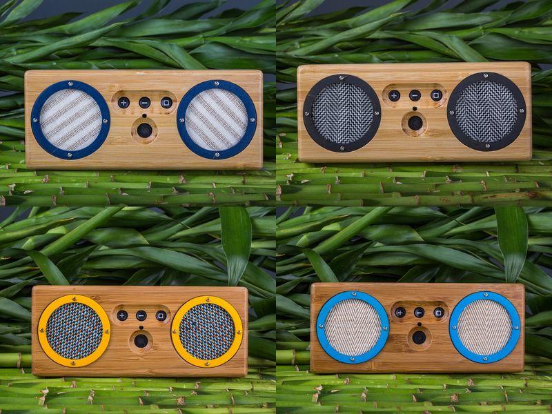 Retro-Modern Bamboo Speakers