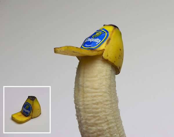 banana peel hat by brock davis
