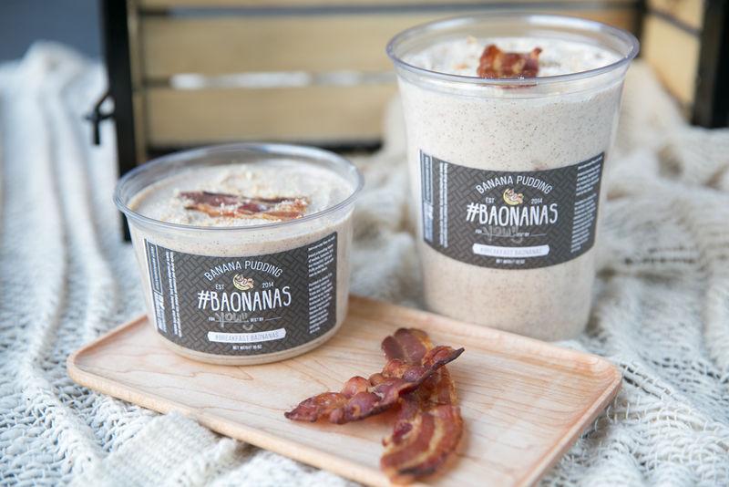 Bacon-Topped Banana Puddings