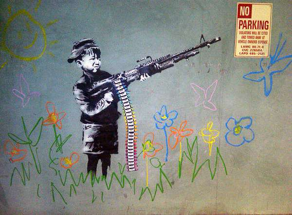 Rifle-Bearing Child Art