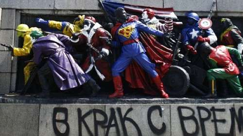 Superhero Soldier Statues