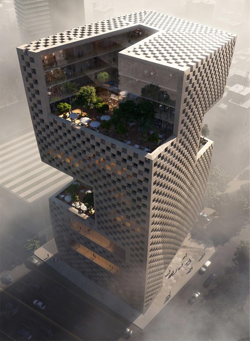 Checkered Concrete Banks