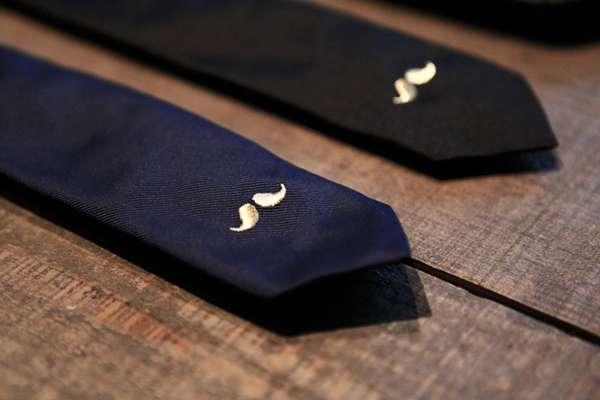 Elegant Mustache Neckties
