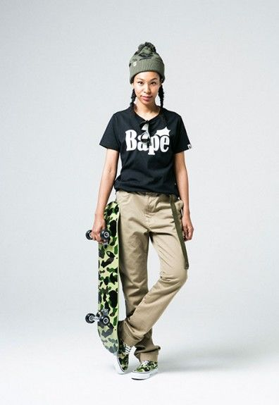 Camo-Covered Ladies Streetwear
