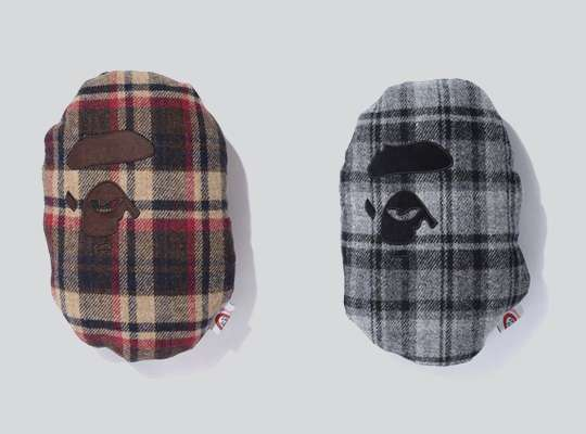 Bape Harris Tweed Cushion