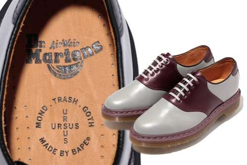 Bape x Dr Martens Saddle Shoes