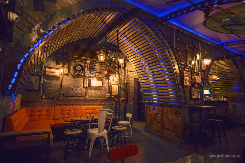 Steampunk Submarine Pubs Bar Interior Design