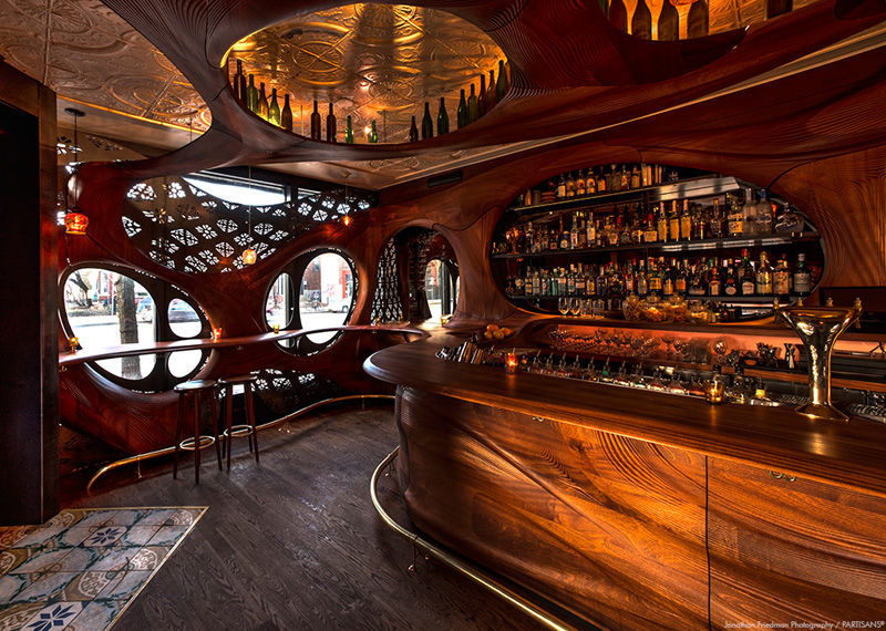 Curvaceous Wooden Bars Bar Raval