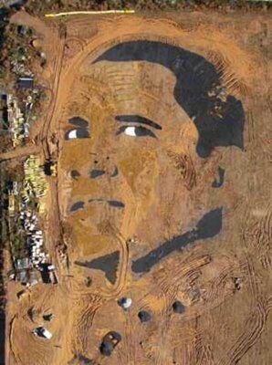 Presidential Sand Art