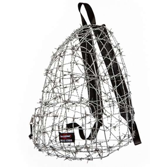 barbed wire eastpak back pack