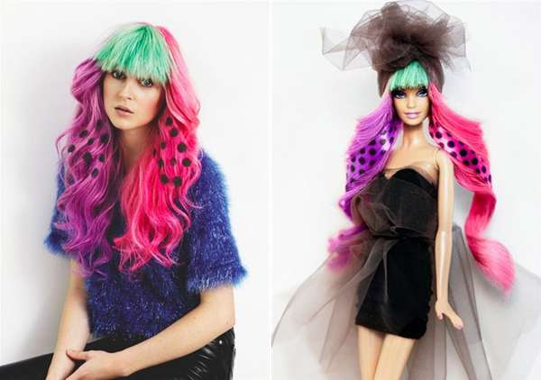 Printed Doll Tresses