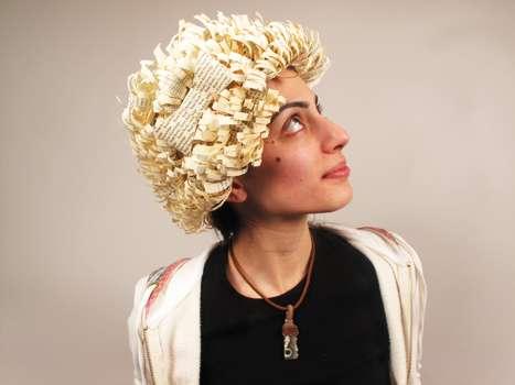 Novel Papercraft Wigs