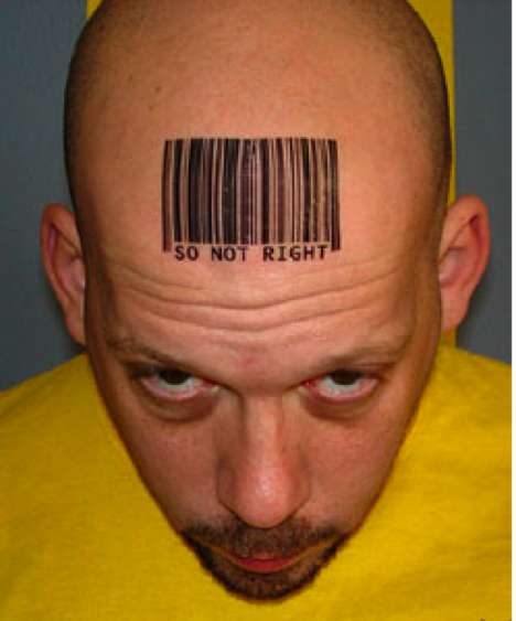 Photos of Temporary Barcode Tattoos (Via: barcodeart, etsy)