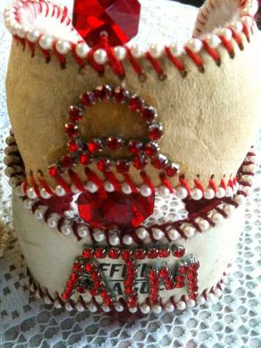 Baseball Cuffs by Lisa Kettell