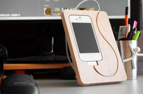 Cutting Board Device Holders Basestation For Iphone 4