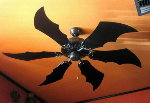 Dark Knight Ceiling Propellers : Bat Wing Fan Blades