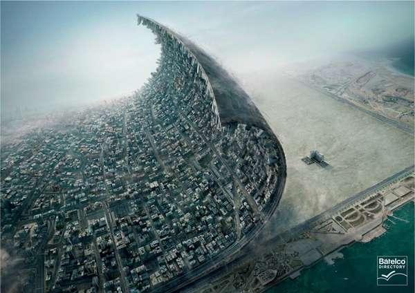 Peeled-Back Earth Ads